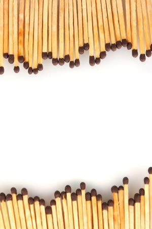 consumable: frame of matches isolated on white