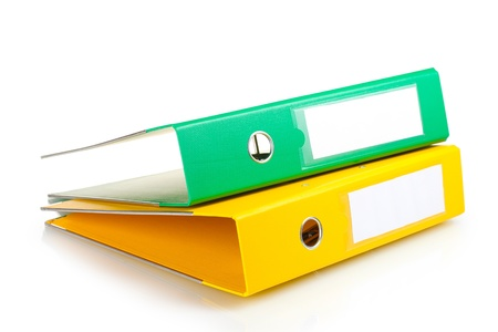 folder with documents: Office folders isolated on white