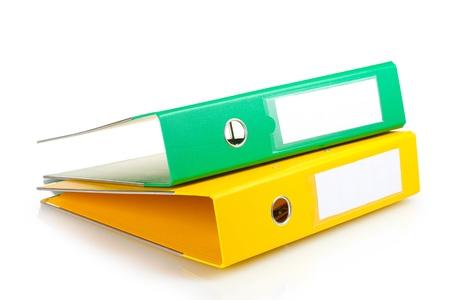 folders: Office folders isolated on white