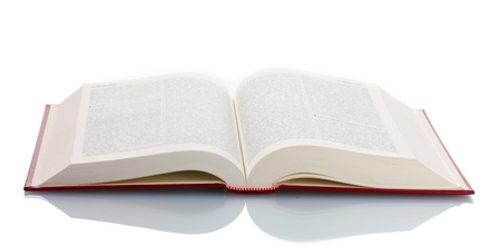 Big open book isolated on white photo