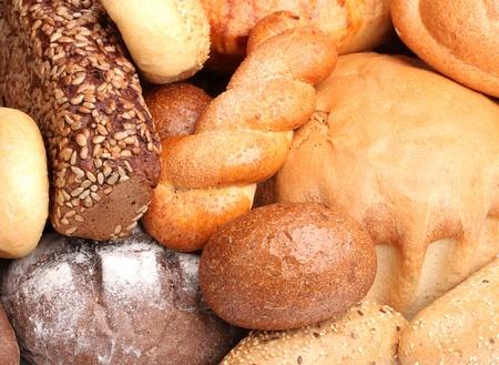 delicious breads closeup photo
