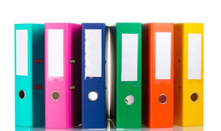 Office folders isolated on white Stock Photo - 12098351