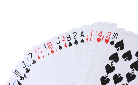 card game: Cards isolated on white