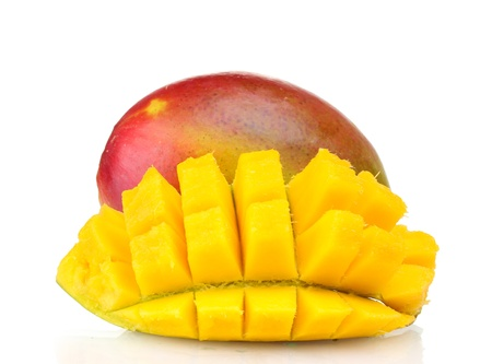 Fresh mango isolated on white photo