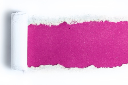 paper hole: Torn paper  with pink background Stock Photo