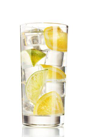 cold fresh lemonade isolated on white Stock Photo - 12217020