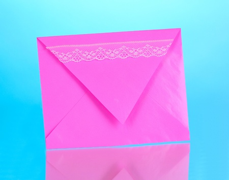 Color envelope on blue background Stock Photo - 12217201