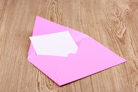 Color envelope on wooden background Stock Photo - 12217374