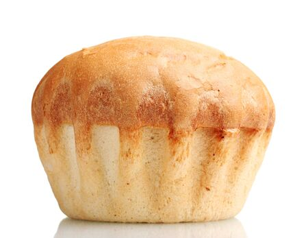 tasty white bread isolated on white photo