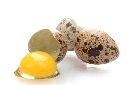 isilated: quail eggs isilated on white Stock Photo