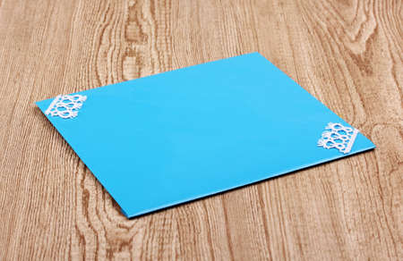 Color envelope on wooden background Stock Photo - 12310640