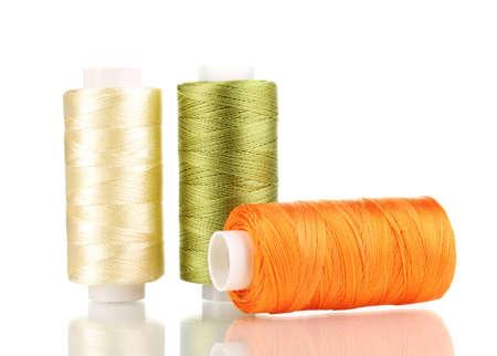 Three bobbin thread isolated on white Stock Photo - 12310836