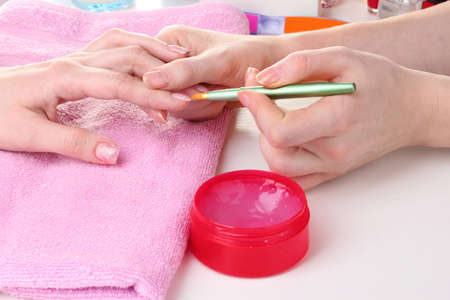 Manicure process in beautiful salon Stock Photo - 12310667