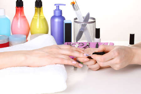 Manicure process in beautiful salon Stock Photo - 12310772