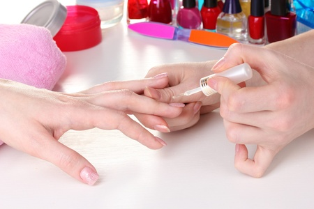 Manicure process in beautiful salon Stock Photo - 12310471