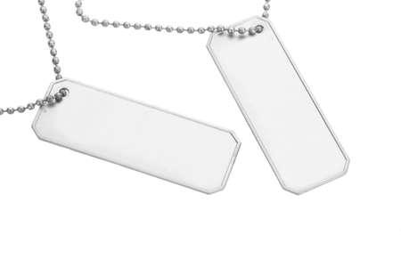 Army badges isolated on white photo