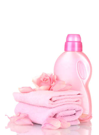 Towel and cleaning isolated on white Stock Photo - 12438979