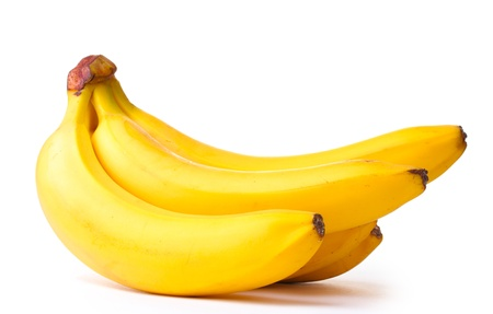 Bunch of bananas isolated on white Stock Photo - 12439440