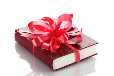 new books: Red book for gift isolated on white