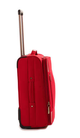 Red suitcase isolated on a white Stock Photo - 12439322