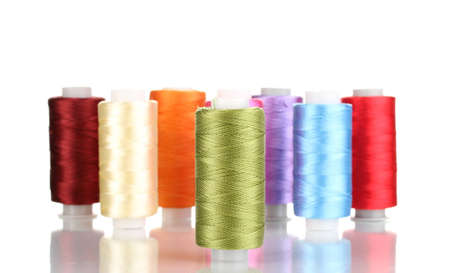 Many spools of thread isolated on white Stock Photo - 12439237