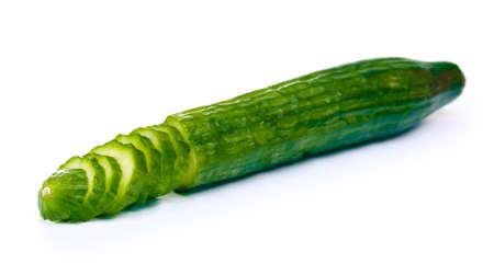 fresh cucumber isolated on white Stock Photo - 12564519