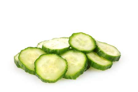 fresh cucumber isolated on white photo