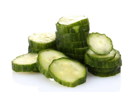 fresh cucumber isolated on white photo