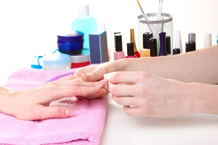 Manicure process in beautiful salon Stock Photo - 12564390