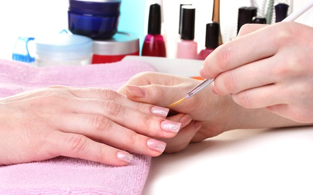 Manicure process in beautiful salon Stock Photo - 12564386