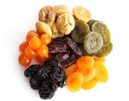 Dried fruits isolated on white Stock Photo - 12564213