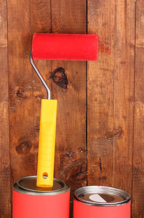 Painting wooden fence Stock Photo - 12564201