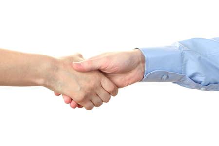 handshake isolated on white photo