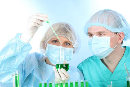 two scientists working in chemistry laboratory Stock Photo - 12564056