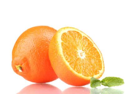 Tasty mandarine isolated on white Stock Photo - 12664176
