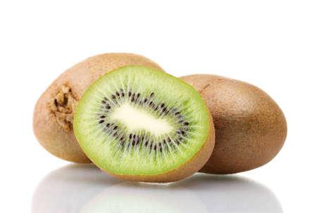 Juicy kiwi isolated on white photo