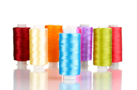 Many spools of thread isolated on white Stock Photo - 12664266