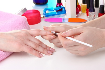 Manicure process in beautiful salon Stock Photo - 12664895