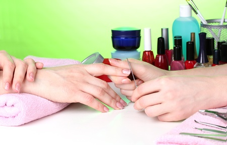 Manicure process in beautiful salon Stock Photo - 12664671