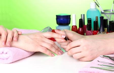 Manicure process in beautiful salon Stock Photo - 12664671
