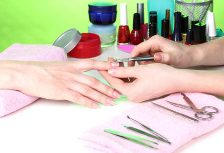 Manicure process in beautiful salon Stock Photo - 12664676