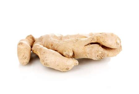 Ginger isolated on white photo