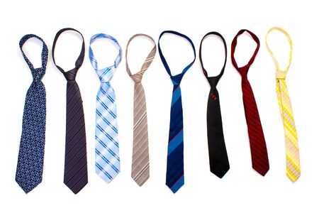 ties isolated on white photo