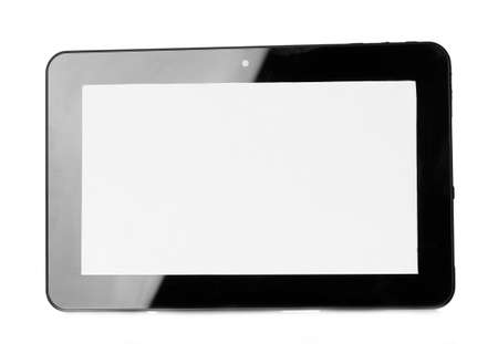 Tablet isolated on white photo