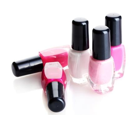 Group of nail polishes isolated on white Stock Photo - 12731609
