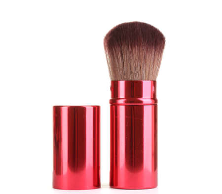 red brush for blusher isolated on white Stock Photo - 12731599