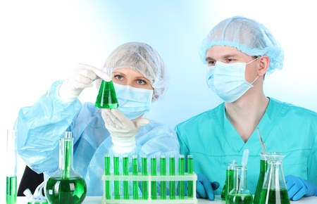two scientists working in chemistry laboratory Stock Photo - 12731059