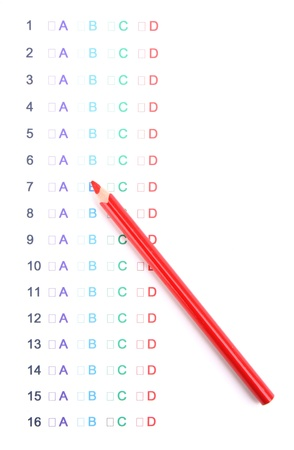 A, B, C, D test close-up Stock Photo - 12824749