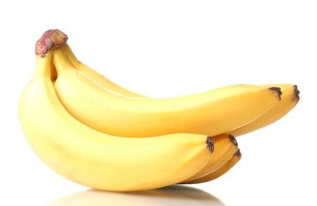 bannana: Bunch of bananas isolated on white Stock Photo