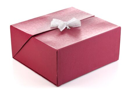 Gift box isolated on white photo